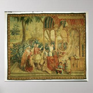 Os astrónomos, tecidos em Beauvais Pôster