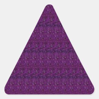 Os azulejos de cristal roxos santamente de adesivo triangular