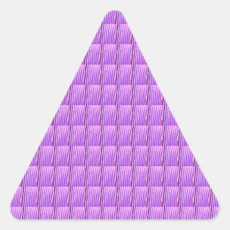 Os azulejos roxos DIY do cristal de Goodluck Adesivo Triangular