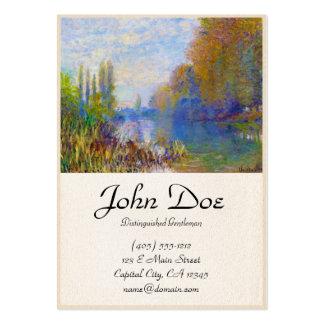 Os bancos do Seine no outono Claude Monet Cartão De Visita Grande