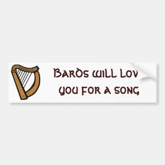 Os bardos amá-lo-ão para uma canção adesivo para carro