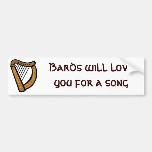 Os bardos amá-lo-ão para uma canção adesivo