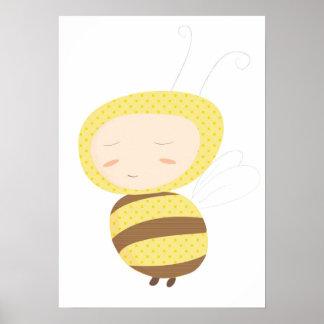 Os bebês animais bumble o impressão da abelha