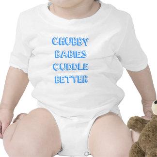 Os bebês carnudos afagam melhor - o azul camisetas