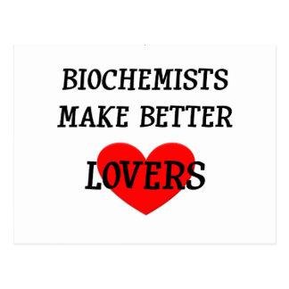 Os bioquímicos fazem melhores amantes cartões postais