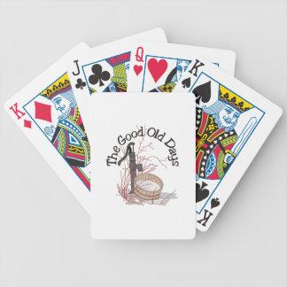 Os bons dias velhos cartas de baralhos