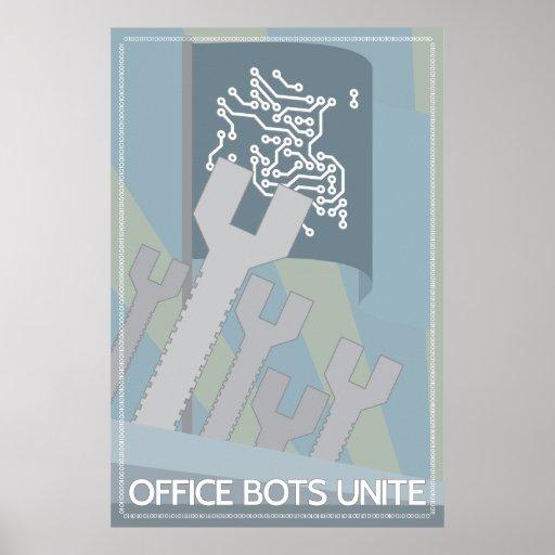 Os bot do escritório unem-se posters