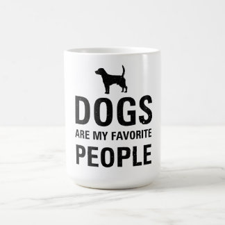 Os cães são meus povos favoritos caneca de café