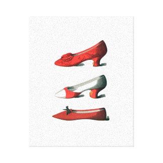 Os calçados do vermelho impressão em tela