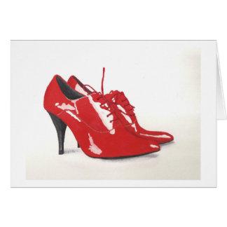 Os calçados vermelhos de Laura - cartão vazio