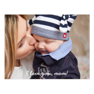 Os cartão personalizados para mães adicionam a cartão postal