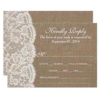 Os cartões da coleção RSVP de serapilheira & de Convite 8.89 X 12.7cm
