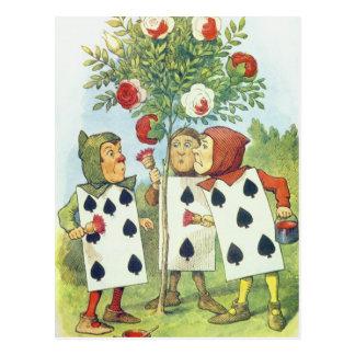 Os cartões de jogo que pintam Bush cor-de-rosa Cartão Postal