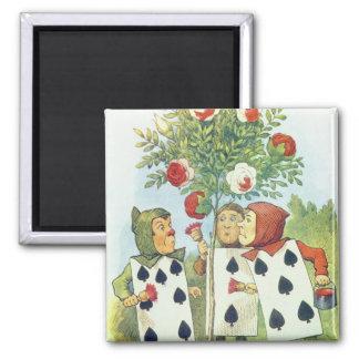 Os cartões de jogo que pintam Bush cor-de-rosa Ímã Quadrado