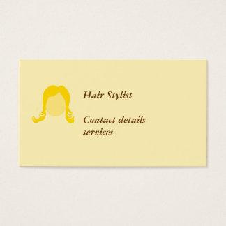 Os cartões de visitas do cabeleireiro personalizam