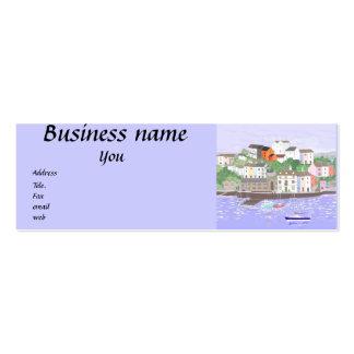 Os cartões de visitas projetam seus próprios