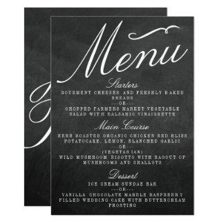 Os cartões do menu da coleção do casamento do convite 11.30 x 15.87cm