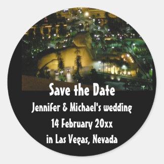 Os casamentos de Las Vegas salvar a data Adesivo