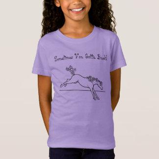 Os cavalos encaracolado têm que às vezes fanfarrão t-shirt