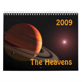Os céus calendário