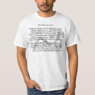 , os cobras Slithering, camisas animais da rima Tshirts