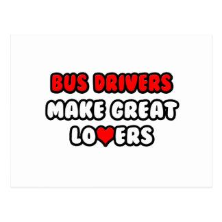 Os condutores de autocarro fazem grandes amantes cartão postal