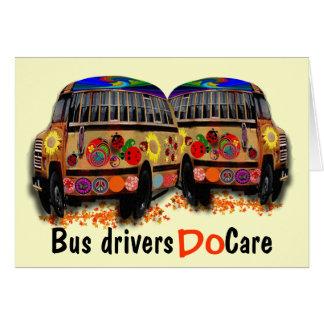 Os condutores de autocarro importam-se cartão comemorativo