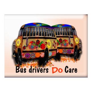 Os condutores de autocarro importam-se cartão postal