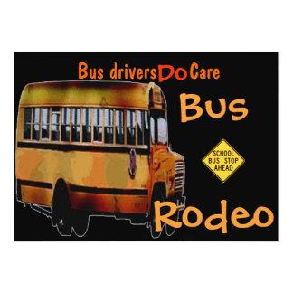 Os condutores de autocarro importam-se convite 12.7 x 17.78cm