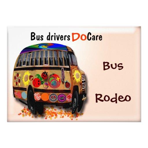 Os condutores de autocarro importam-se convite personalizados