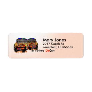 Os condutores de autocarro importam-se etiqueta endereço de retorno