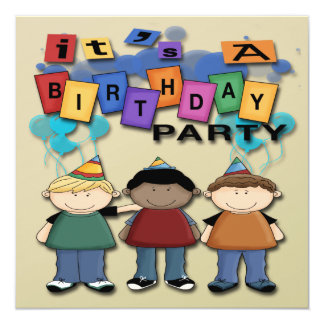 Os convites de festas de aniversários do menino