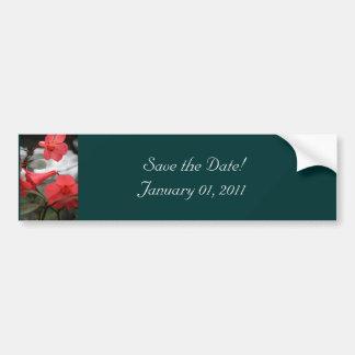 Os convites do casamento, salvar a data! adesivo para carro