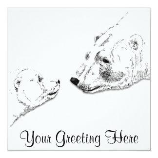 Os convites do urso personalizaram o cartão de
