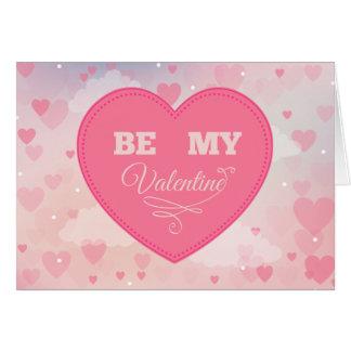"""Os corações cor-de-rosa """"sejam cartão do dia dos"""