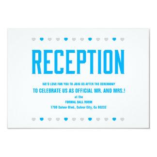 Os corações da recepção logo a ser Sr. & Sra. - Convite 8.89 X 12.7cm