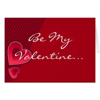 Os corações dobro sejam meus namorados no branco cartão comemorativo