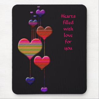 Os corações oscilam o amor - todo o dia do ano mouse pad