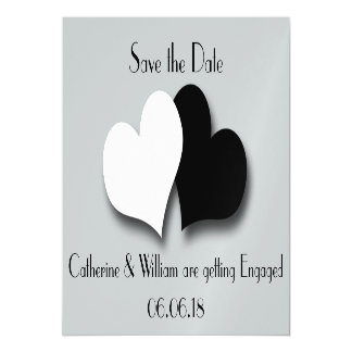 Os corações salvar o cartão magnético do noivado