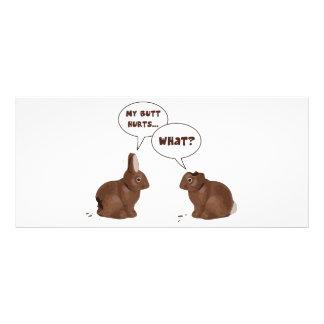Os danos do bumbum dos coelhos de coelhinho da 10.16 x 22.86cm panfleto