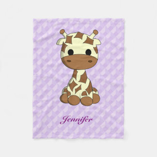Os desenhos animados bonitos do kawaii do girafa cobertor de lã