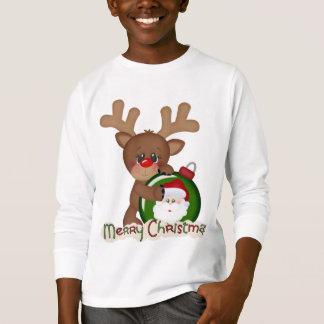 Os desenhos animados do feriado da rena do Natal T-shirt