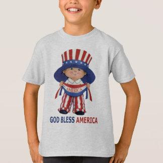"""Os deus abençoe América """"caçoam o t-shirt"""