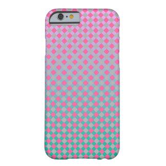 Os diamantes cinzentos cor-de-rosa à moda do roxo capa barely there para iPhone 6