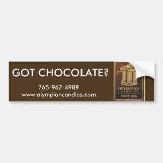 """Os doces do olímpico """"obtiveram o chocolate?"""" adesivo para carro"""