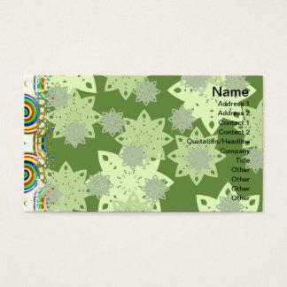 Os doces florescem grande cartão de visitas
