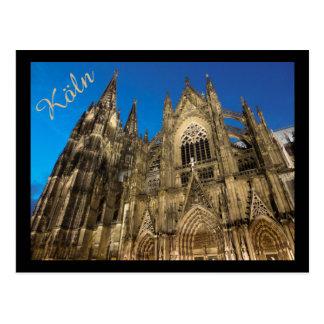 Os DOM de Kölner/catedral da água de Colônia Cartão Postal