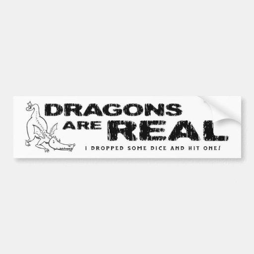 Os dragões são reais! • Autocolante no vidro trase Adesivos
