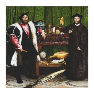 Os embaixadores por Hans Holbein o mais novo Impressão Em Tela