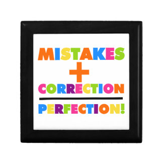Os erros mais a correção igualam a perfeição caixa de presente